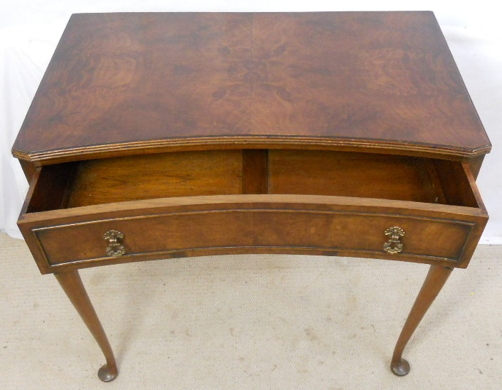Lovely SOLD   Walnut Side Table In Antique Queen Anne Style